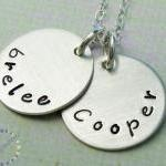 Personalized names pendant: Sterlin..