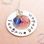 Hand stamped necklace: Sterling sil..