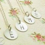 Initial necklace . personalized nec..