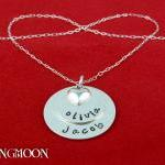 Personalized custom necklace - pend..