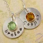Hand stamped necklace: personalized..