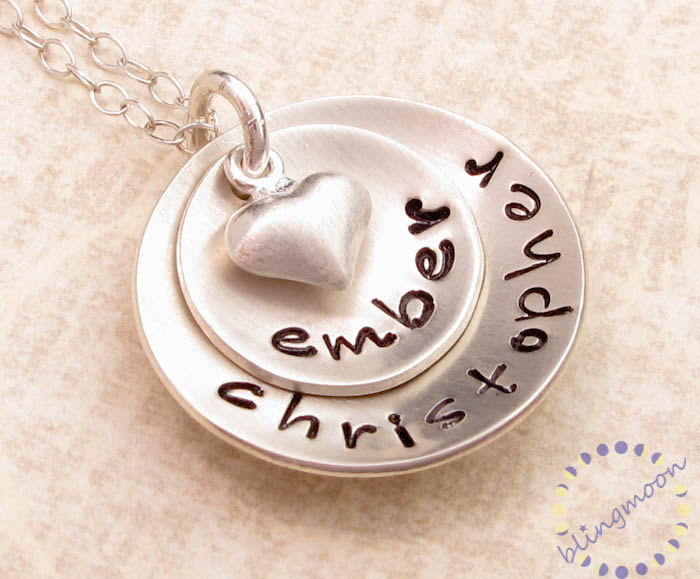 personalized necklace hand stamped jewelry custom engraved