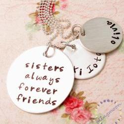 Sister necklace: Hand Stamped Sister Jewelry Sisters Best Friends